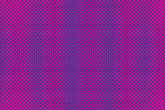 Pop-art-comic-hintergrund. halbtonmuster. lila rosa gepunkteter druck. cartoon-vintage-textur