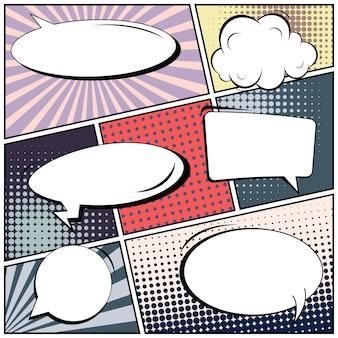 Pop-art-comic mit leerzeichen auf leer