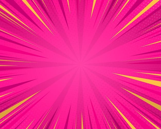 Pop-art-comic-strip-cover-design comic rosa halbton-punkt-hintergrund