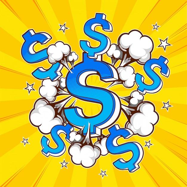 Pop-art-geld