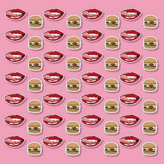 Pop-art-hamburger-tapete