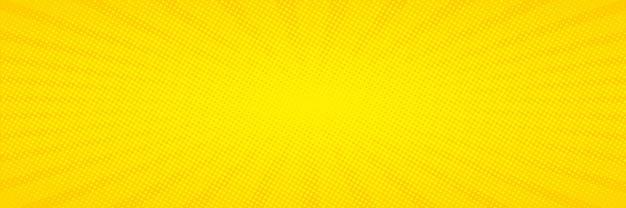 Pop-art. hintergrund mit punkten. gelber comic-hintergrund. cartoon lustiges retro-muster. vektorillustration