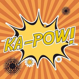 Pop-art-ka-pow streifen hintergrund
