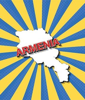 Pop-art-karte von armenien