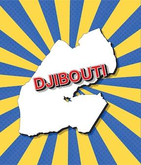 Pop-art-karte von dschibuti
