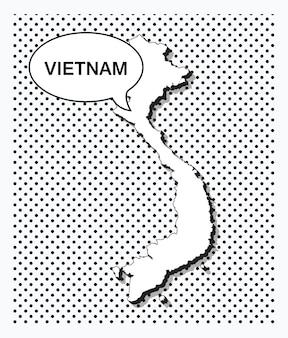 Pop-art-karte von vietnam