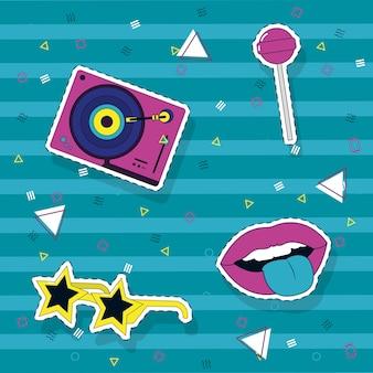 Pop-art-muster hintergrund