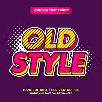 Pop-art retro-bearbeitbarer texteffektstil im alten stil