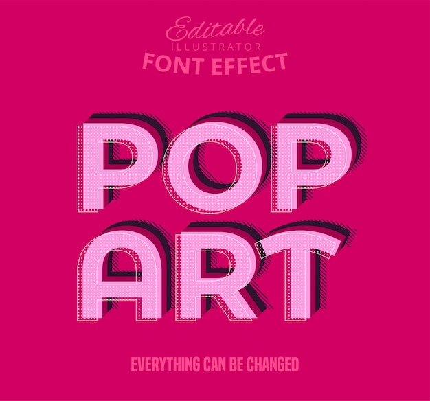 Pop-art-text, bearbeitbarer font-effekt