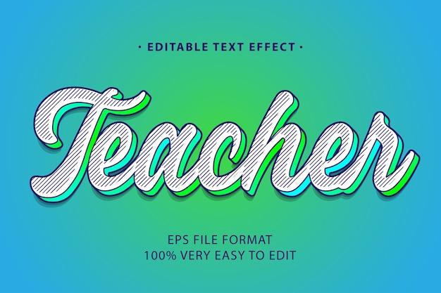 Pop-art-texteffekt mit grünem farbverlauf, bearbeitbarer text