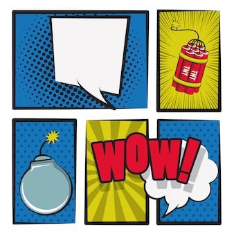 Pop art und comic cartoons