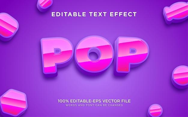 Pop lila textstil-effekt