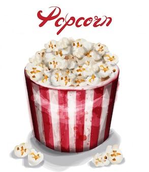 Popcorn box aquarell