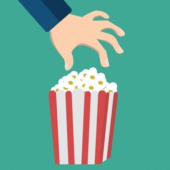 Popcorn-box hintergrund-design