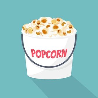 Popcorn eimer. illustration