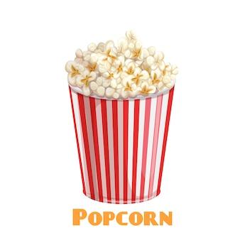 Popcorn gestreifte schüssel symbol