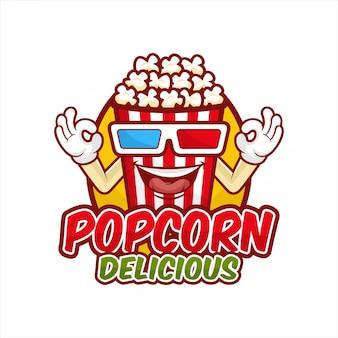 Popcorn köstliche designillustration