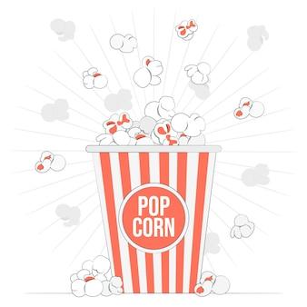 Popcorn-konzeptillustration