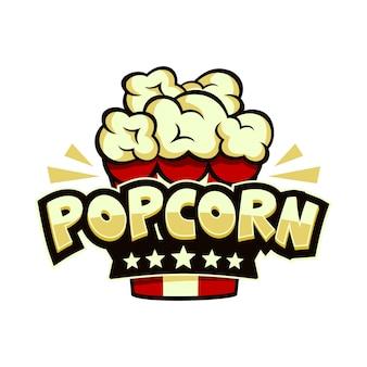 Popcorn-logo bunt
