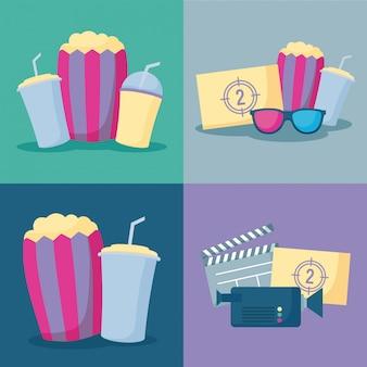 Popcorn mit kinoset