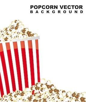 Popcorn mit raum für kopienvektorillustration