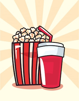 Popcorn-soda-pop-art-hintergrund