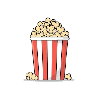 Popcorn-symbol-illustration isoliert