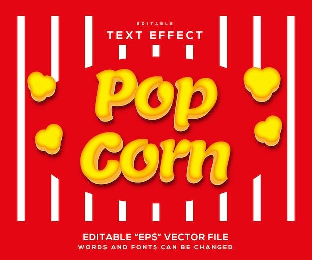 Popcorn-texteffekt