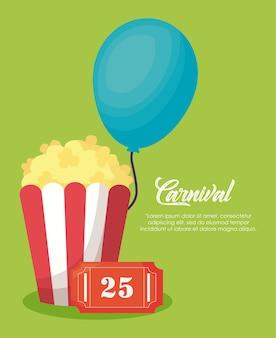 Popcorn und ballon