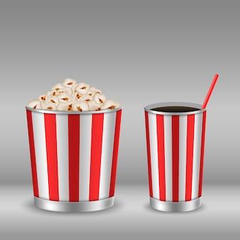 Popcorn- und sodabild