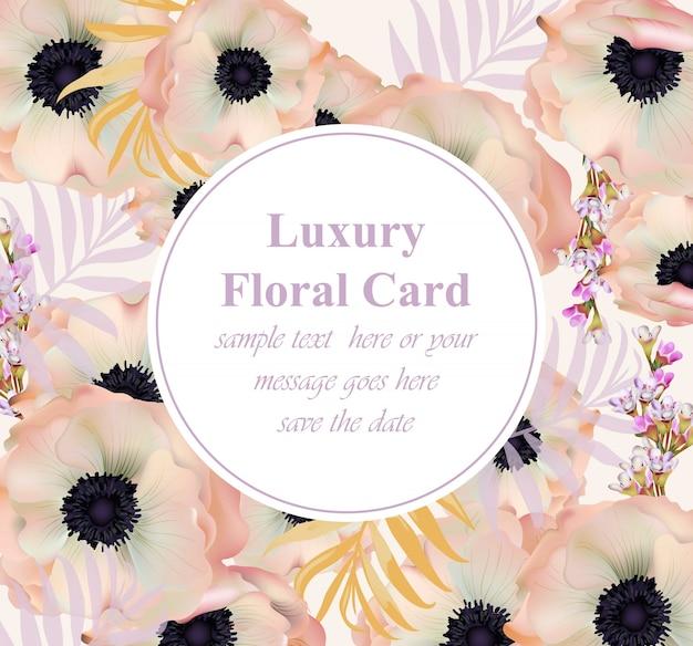 Poppy blumen luxus-design-karte