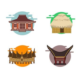 Populäres indonesisches traditionelles haus