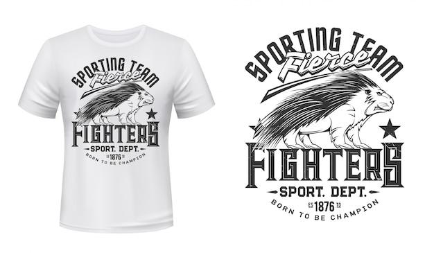 Porcupine tier t-shirt druckvorlage
