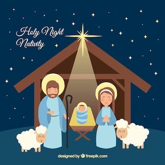 Portal Hintergrund der Geburt Christi durch den Stern leuchtet