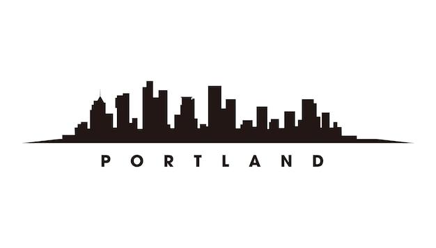 Portland-skyline-silhouette-vektor