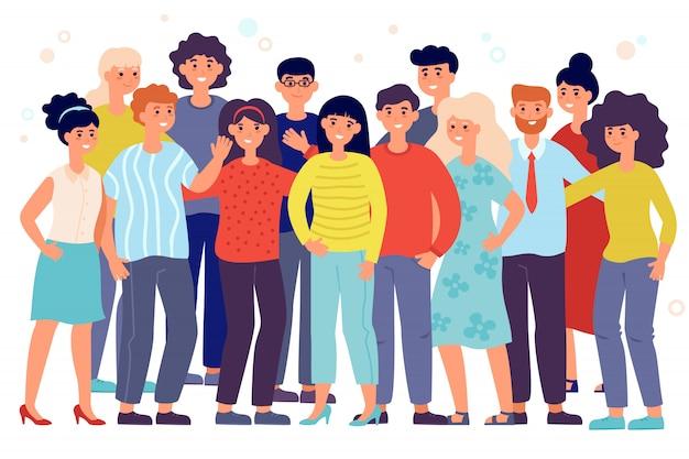 Porträt des jungen mitarbeiterteams