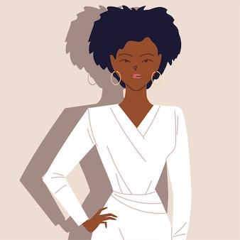 Porträt einer erfolgreichen afro-geschäftsfrau