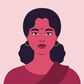 Porträt einer schönen reifen indischen frau