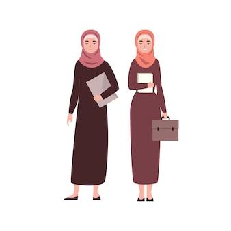 Porträt von modernen arabischen frauen des geschäfts