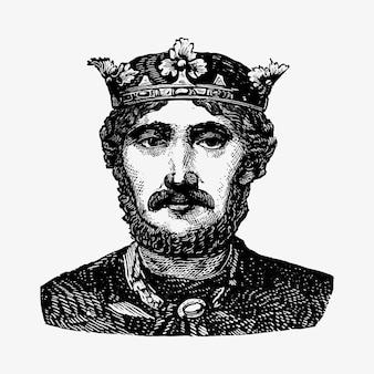Portrait eines königs