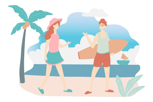 Portrait-tourismus-gruß im strandurlaub genießen