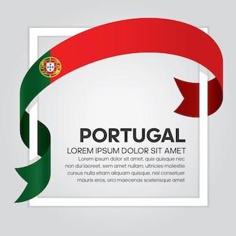 Portugal-bandflagge, vektorillustration auf weißem hintergrund