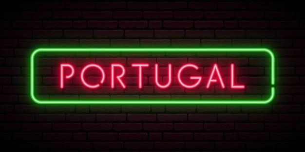 Portugal leuchtreklame