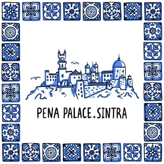 Portugal markiert den pena-palast palacio nacional da pena