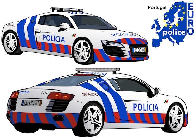 Portugiesisches polizeiauto