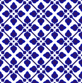 Porzellan-china-muster, modernes design der chinesischen keramischen blauen und weißen tonwaren, indigotapete, nahtloser dekor chinaware