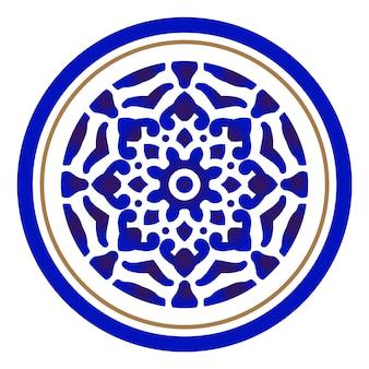 Porzellan rundes design