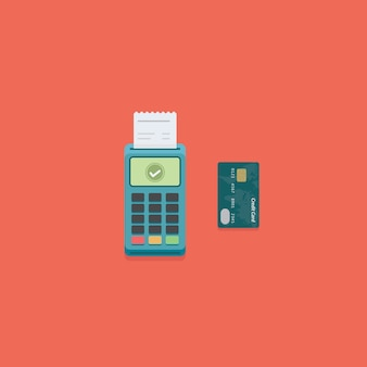 Pos zahlungsterminal und kreditkarte