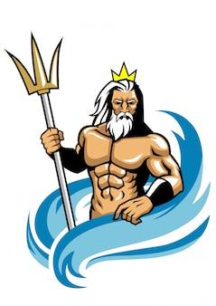 Poseidon-maskottchen-stil
