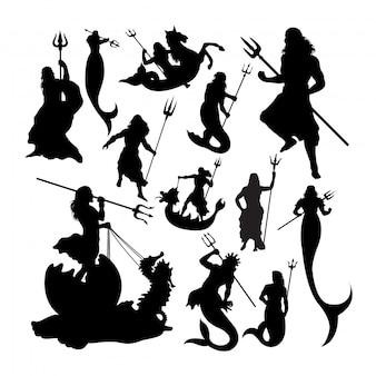 Poseidon silhouetten